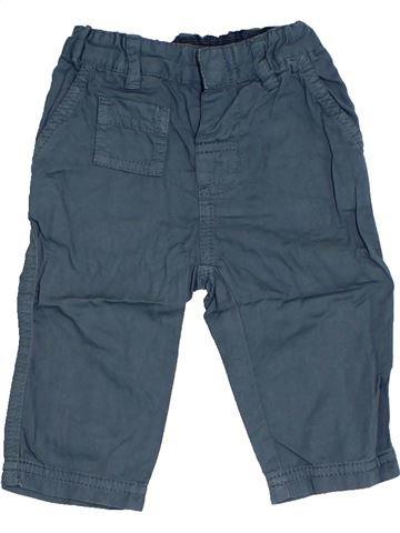 Pantalon garçon PETIT BATEAU bleu 6 mois été #1324159_1