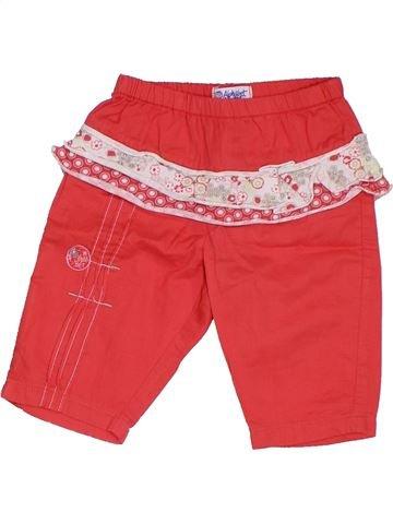 Pantalon fille ALPHABET rouge 3 mois été #1324330_1