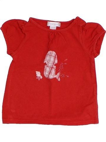 T-shirt manches courtes fille OKAIDI rouge 6 mois été #1325562_1