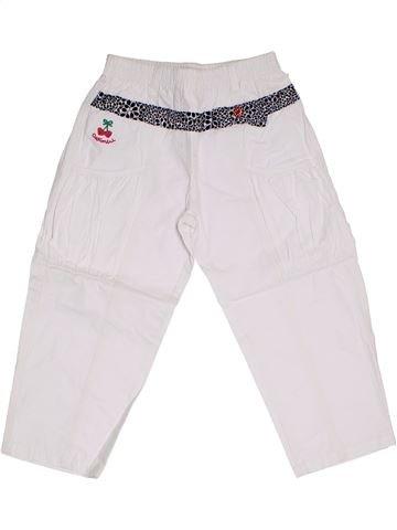 Pantalon fille CATIMINI blanc 4 ans été #1325780_1