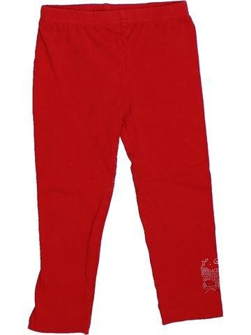 Legging niña 3 POMMES rojo 3 años verano #1325966_1