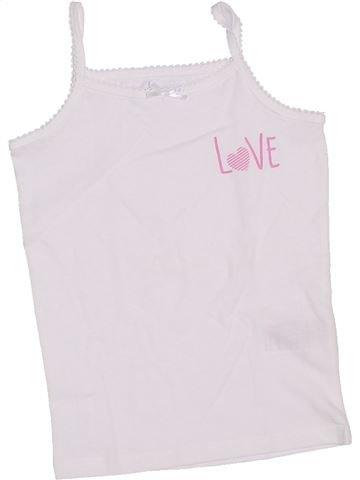 T-shirt sans manches fille VERTBAUDET blanc 5 ans été #1326029_1