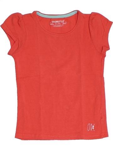 T-shirt manches courtes fille ORCHESTRA rouge 5 ans été #1326383_1