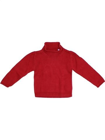Pull fille OKAIDI rouge 2 ans hiver #1326800_1