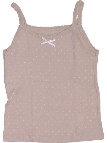 Camiseta sin mangas niña CFK beige 5 años verano #1326984_1