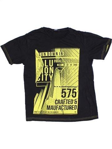 T-shirt manches courtes garçon GEORGE noir 12 ans été #1328592_1