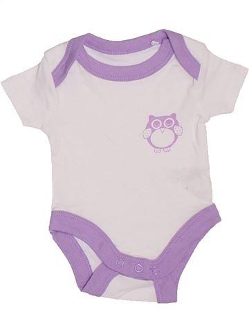 T-shirt manches courtes fille LILY & DAN blanc naissance été #1329132_1