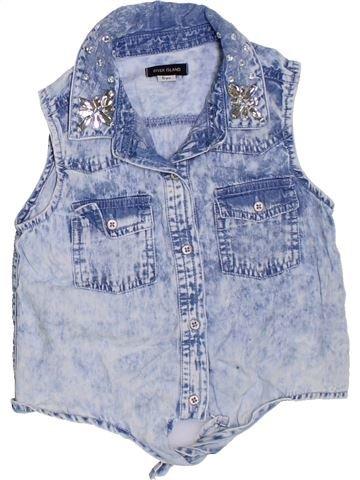 Blusa de manga corta niña RIVER ISLAND azul 6 años verano #1329156_1