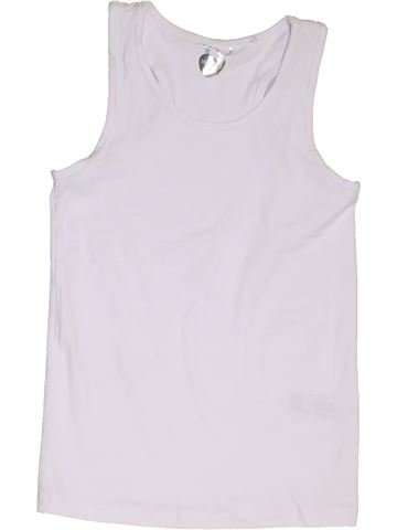 Camiseta sin mangas niña DEBENHAMS blanco 10 años verano #1329314_1