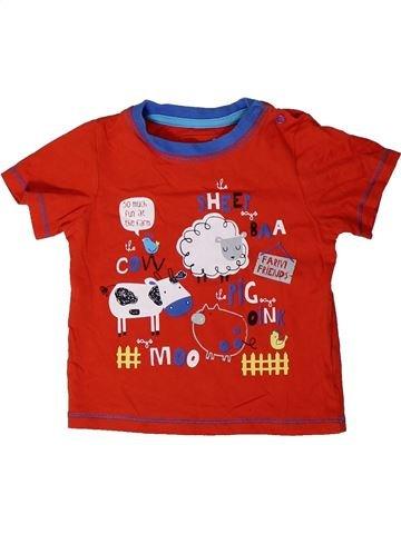 T-shirt manches courtes garçon TU rouge 12 mois été #1329594_1