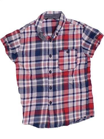 Chemise manches courtes garçon GEORGE violet 6 ans été #1330539_1