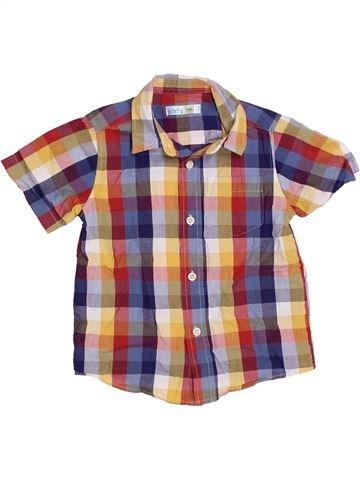 Chemise manches courtes garçon M&CO violet 3 ans été #1330547_1