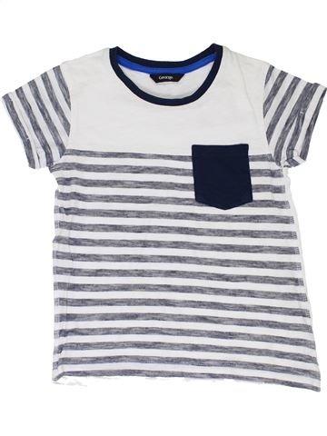 T-shirt manches courtes garçon GEORGE blanc 7 ans été #1330624_1