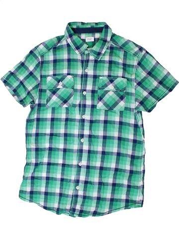 Chemise manches courtes garçon F&F vert 14 ans été #1330929_1