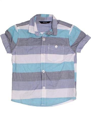 Chemise manches courtes garçon GEORGE bleu 4 ans été #1331008_1