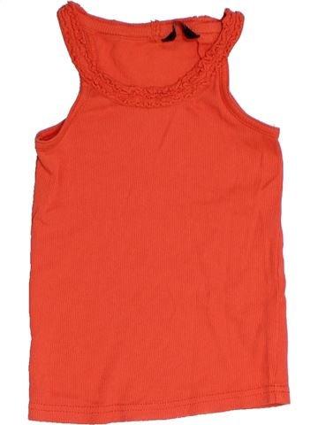 T-shirt sans manches fille GEORGE rouge 6 ans été #1331095_1