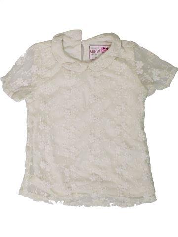 Blouse manches courtes fille PRIMARK blanc 7 ans été #1331144_1