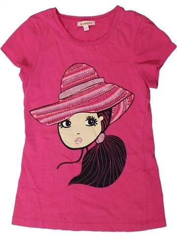 T-shirt manches courtes fille BLUEZOO rose 9 ans été #1331145_1