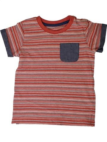 T-shirt manches courtes garçon MATALAN marron 3 ans été #1331147_1