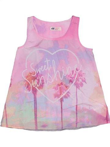 T-shirt sans manches fille H&M rose 10 ans été #1331161_1