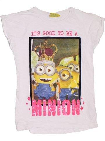 T-shirt manches courtes fille LES MINIONS blanc 11 ans été #1331279_1