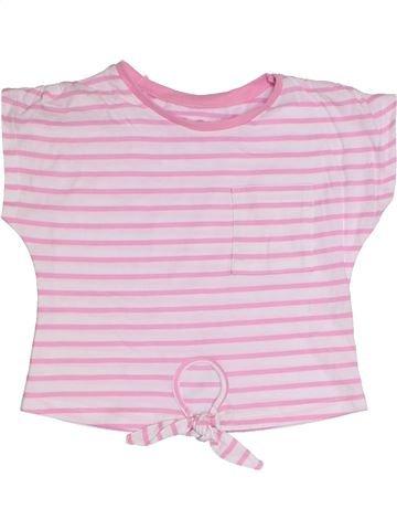 T-shirt manches courtes fille TU rose 4 ans été #1331303_1