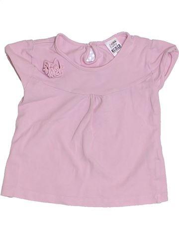 T-shirt manches courtes fille ZARA rose 2 ans été #1331498_1