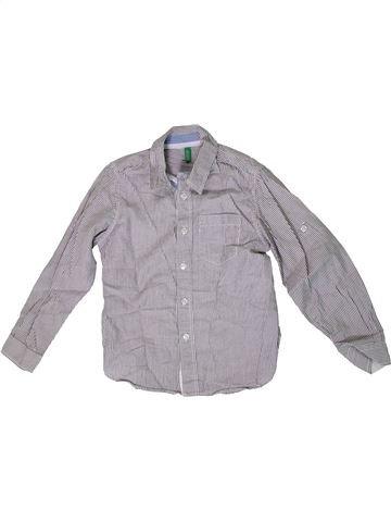 Chemise manches longues garçon BENETTON gris 7 ans hiver #1331565_1