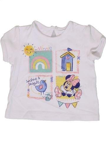 T-shirt manches courtes fille GEORGE blanc 6 mois été #1331590_1