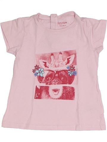 T-shirt manches courtes fille KIMBALOO rose 2 ans été #1331603_1