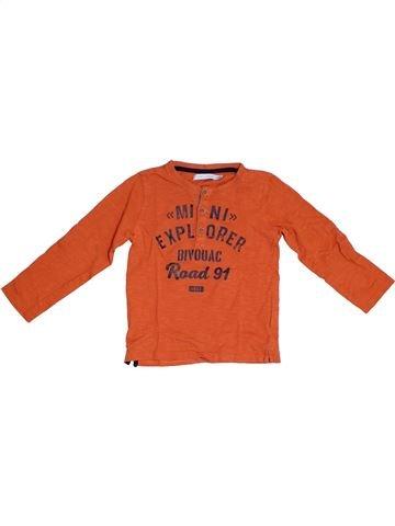 T-shirt manches longues garçon GEMO rouge 3 ans hiver #1331752_1
