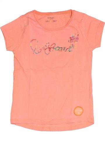 T-shirt manches courtes fille LONGBOARD beige 10 ans été #1331753_1
