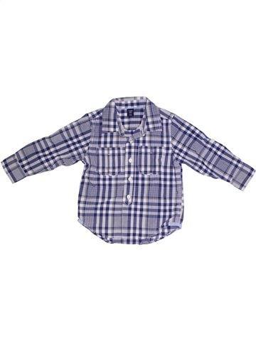 Chemise manches longues garçon GAP gris 3 ans hiver #1331804_1
