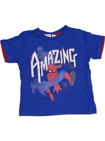 T-shirt manches courtes garçon SUPERS HÉROS bleu 4 ans été #1332304_1