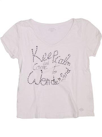 T-shirt manches courtes fille DDP blanc 14 ans été #1333026_1
