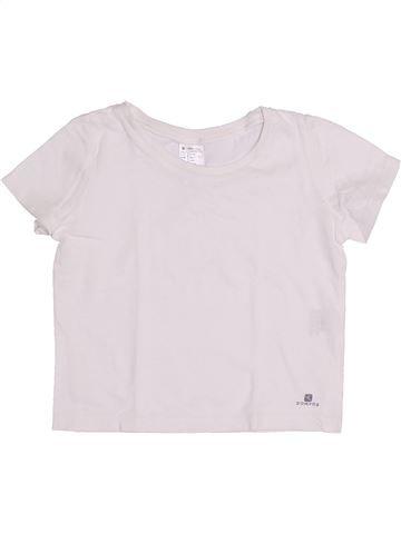 Camiseta de manga corta niña DOMYOS blanco 4 años verano #1334439_1