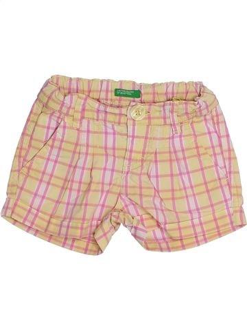 Short-Bermudas niña BENETTON rosa 18 meses verano #1334625_1