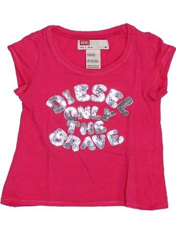 T-shirt manches courtes fille DIESEL rose 2 ans été #1334808_1