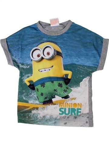 T-shirt manches courtes garçon GEORGE bleu 4 ans été #1336089_1
