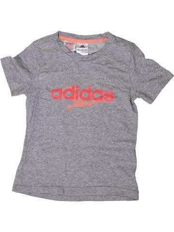 T-shirt manches courtes fille ADIDAS gris 8 ans été #1336568_1