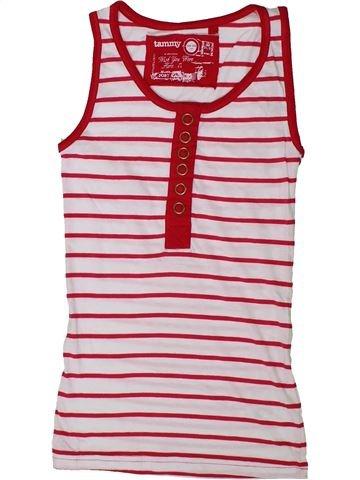 T-shirt sans manches fille TAMMY rose 11 ans été #1337327_1