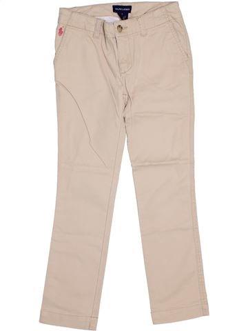 Pantalon fille RALPH LAUREN beige 7 ans été #1337448_1