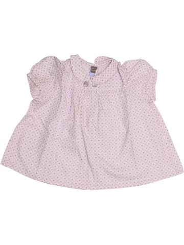 Blusa de manga corta niña TARTINE ET CHOCOLAT blanco 2 años verano #1337653_1