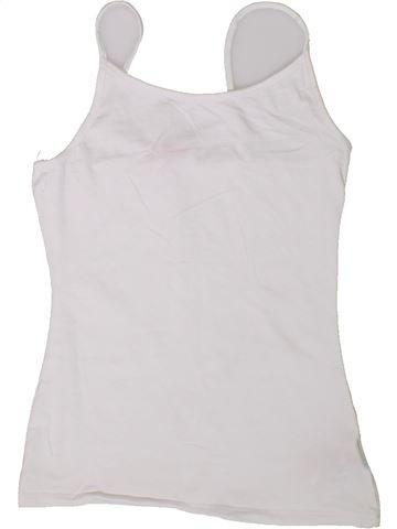 T-shirt sans manches fille MISS E-VIE blanc 12 ans été #1338190_1