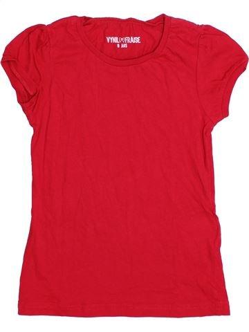 T-shirt manches courtes fille VYNIL FRAISE rouge 6 ans été #1338970_1