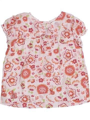 Blusa de manga corta niña LES BEBES SONT COMME ÇA rosa 12 meses verano #1339201_1