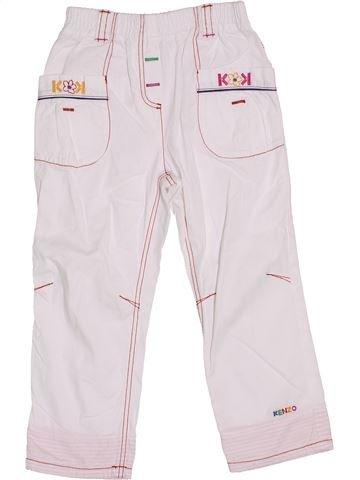 Pantalon fille KENZO blanc 3 ans été #1339224_1