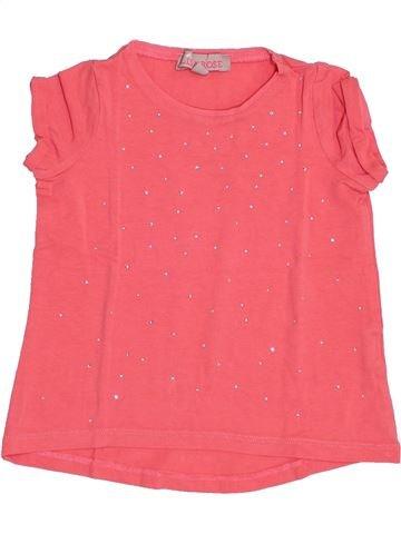 T-shirt manches courtes fille LISA ROSE rose 2 ans été #1340788_1