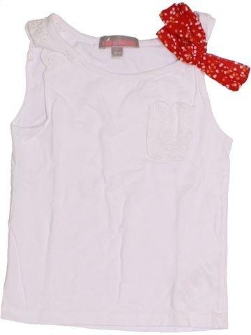T-shirt sans manches fille LISA ROSE blanc 4 ans été #1341531_1