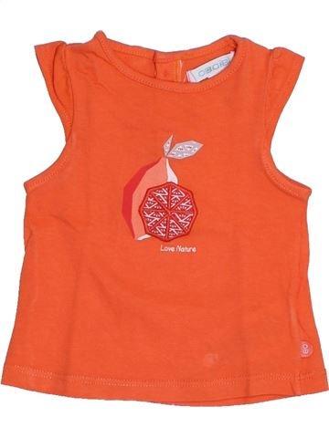 Camiseta de manga corta niña OBAIBI naranja 3 meses verano #1341679_1